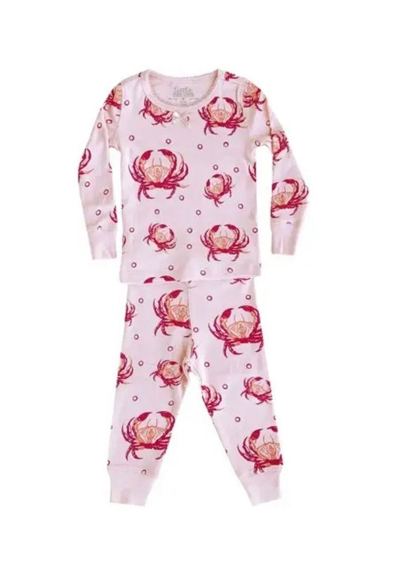 Pink Crab Pajama Set