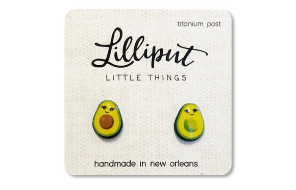 Avocado Titanium Earrings