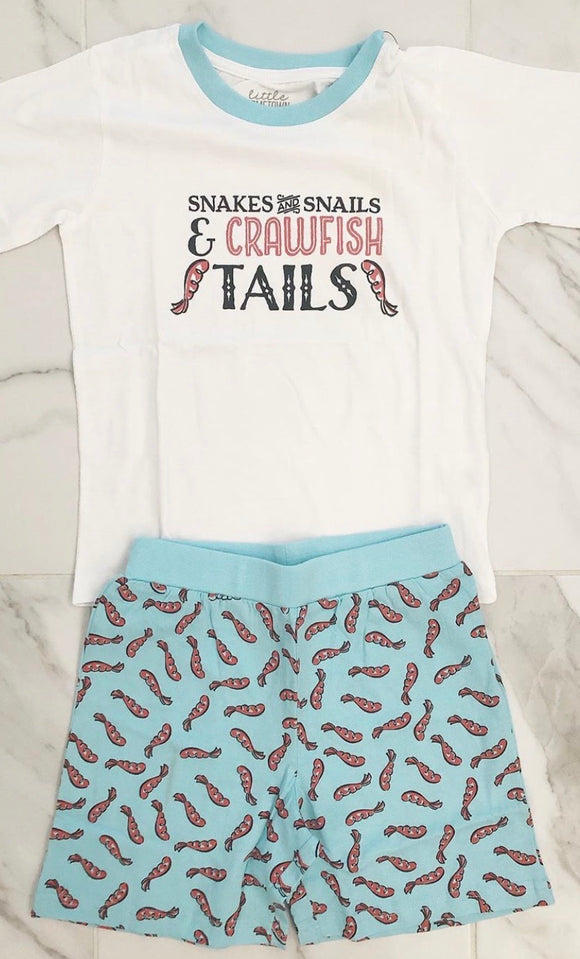 Snakes and Snails and Crawfish Tails PJ Set