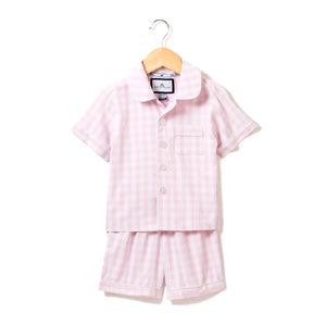 Pink Gingham Pajama Short Set