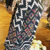 CARDIGAN/MULTI-COLOR TRIBAL PRINT