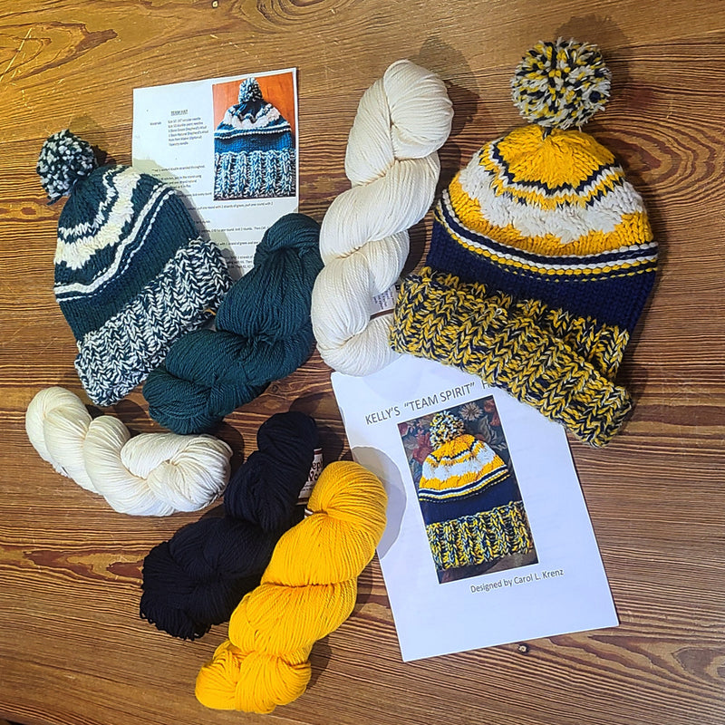 U of M Team Hat Knit Kits
