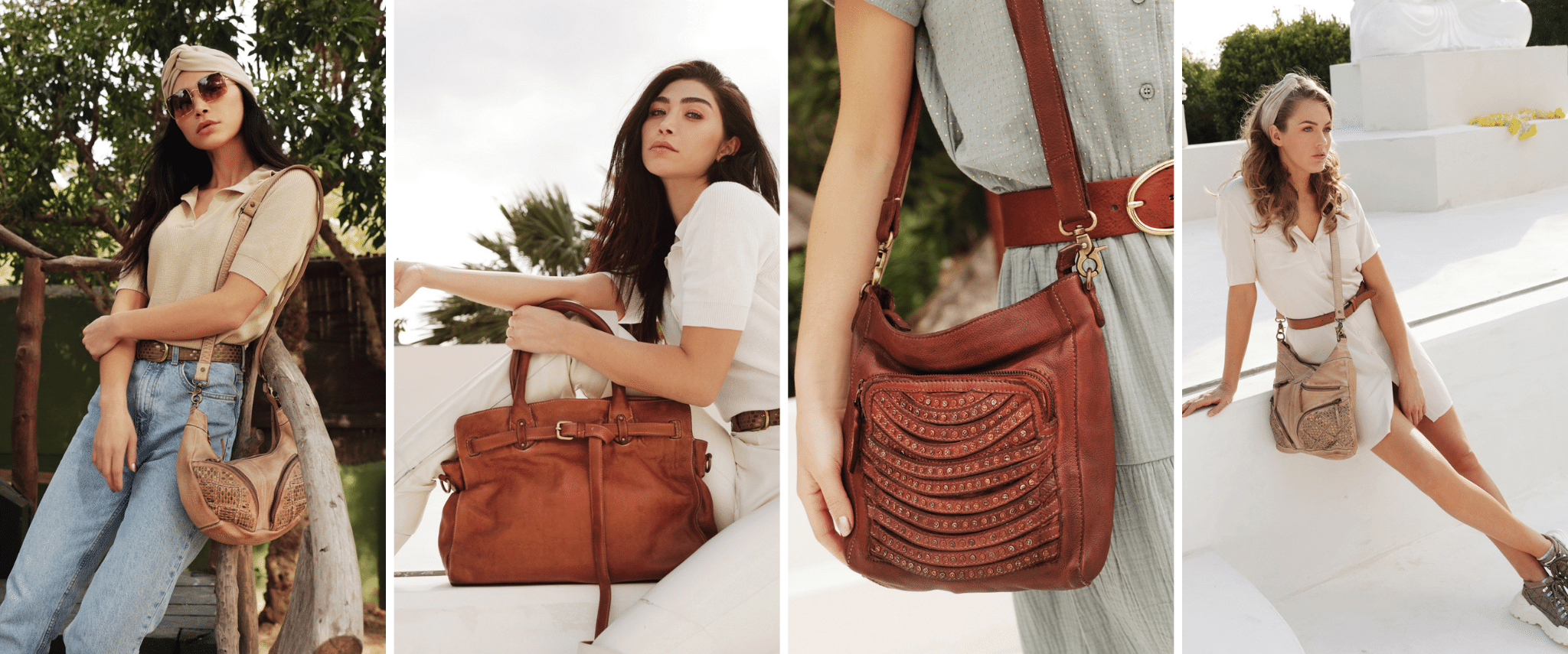 leather crossbody bags banner