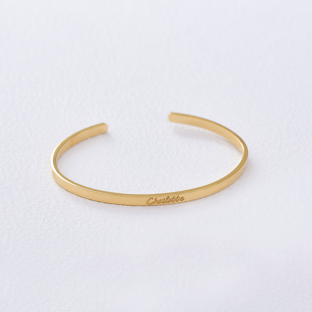 Custom Thin Classic Cuff from Capsul Jewelry ?id=15024593207376