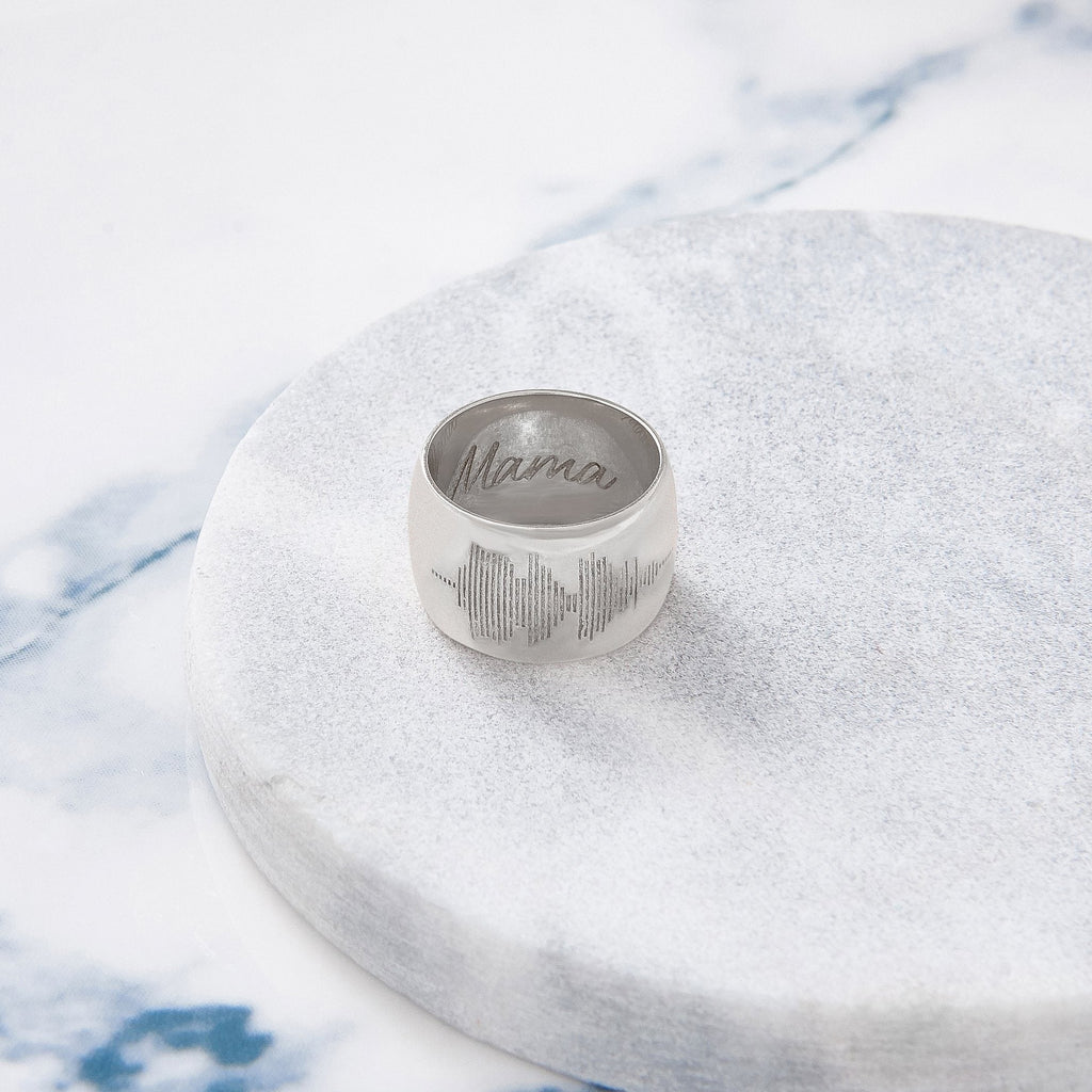 Custom Wide Classic Ring (Soundwave/Silver) from Capsul Jewelry ?id=15259613593680