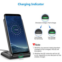 CHOETECH 15W Qi Fast Wireless Charger Stand for i-Phone 12,Samsung Galaxy Note 20 and other QI Enabled Mobiles