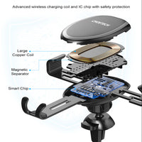 CHOETECH 10W Wireless Car Charger, Gravity Air Vent Phone Holder Fast Wireless Charging Car Mount