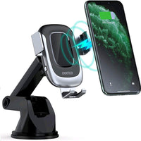 CHOETECH Wireless Car Charger,15W Qi Fast Charging Auto Clamping Car Mount T542-S for Samsung,iPhone,Mi,Huawei and Qi Enabled Phones