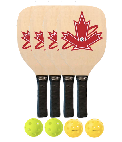 Premium 4 Wooden Paddle Package