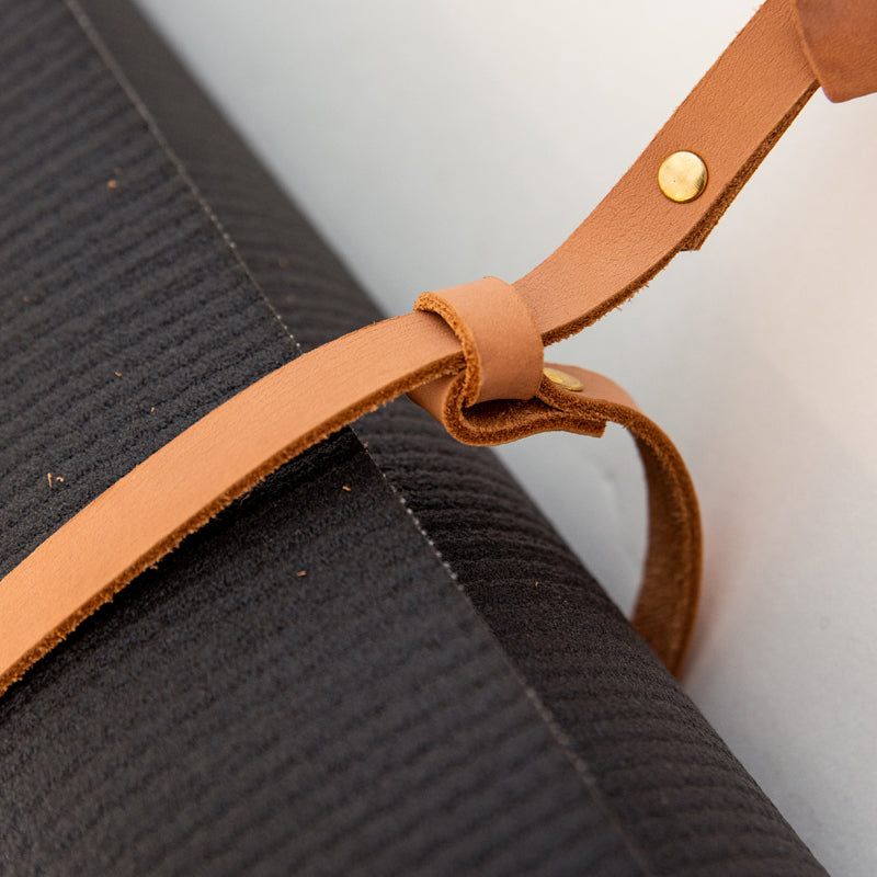 Leather Buckle Mat Carrier