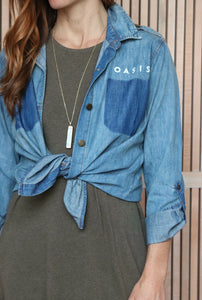 Oasis Le Rivoluzione | Montana Button Down Chambray Shirt