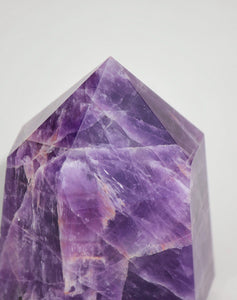 Chevron Amethyst Polished Point