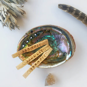 Moon Phase Etched Palo Santo Stick