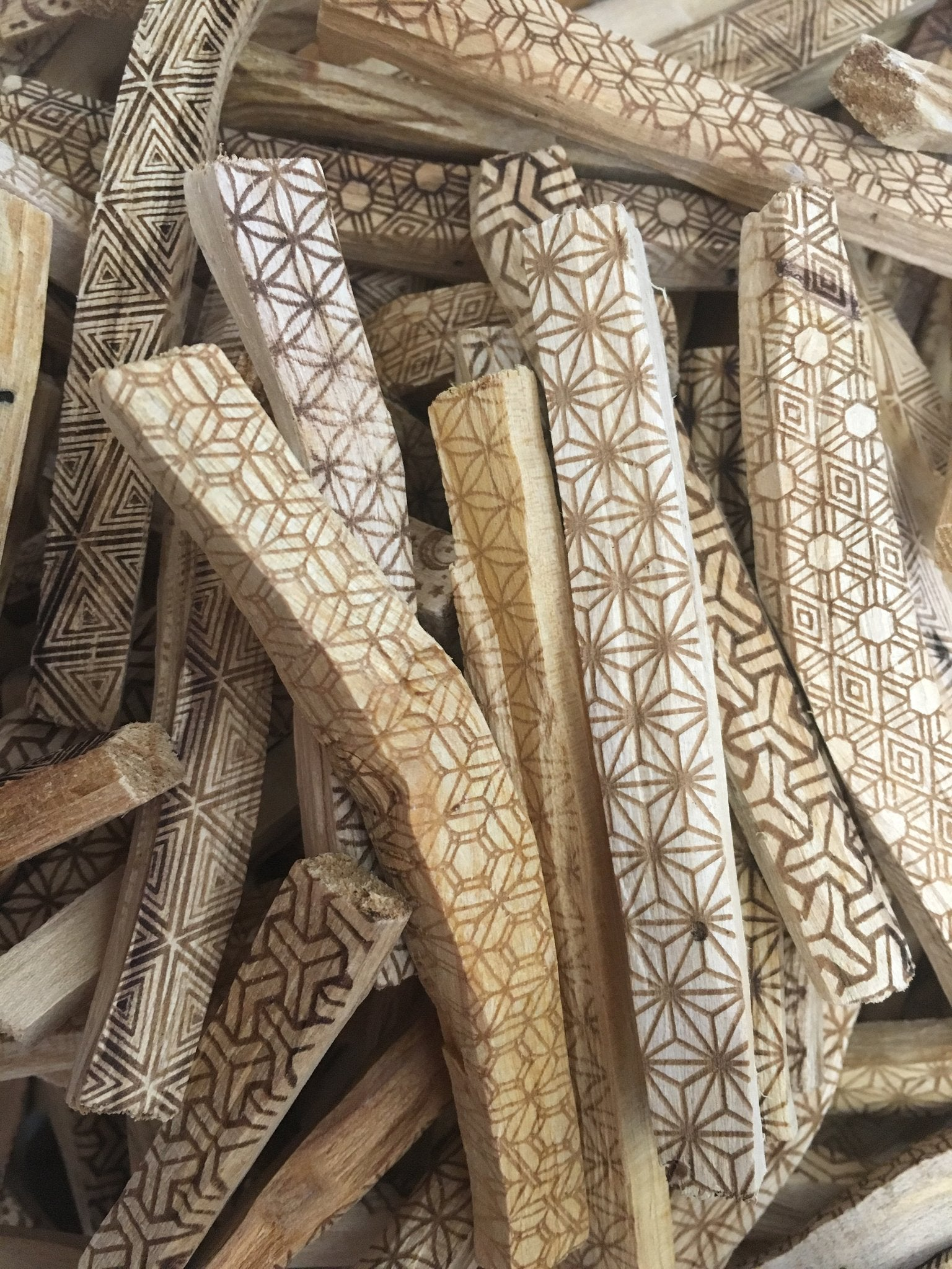 Sacred Geometry Etched Palo Santo Stick