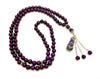 Handmade purpule natural Agate necklace