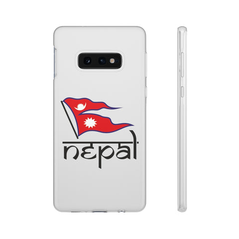 Flexi Phone Case with Nepali Flag