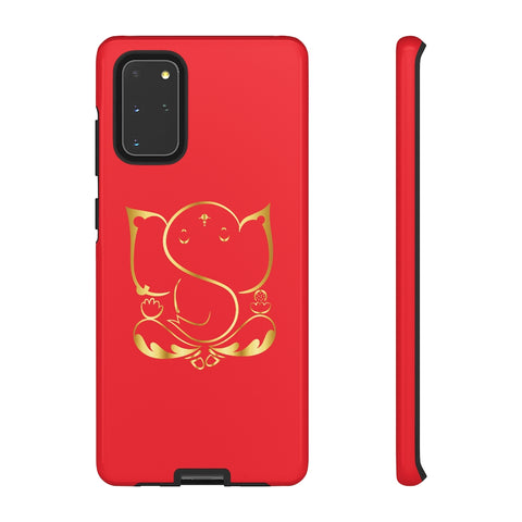Red Tough Ganesh Phone Case