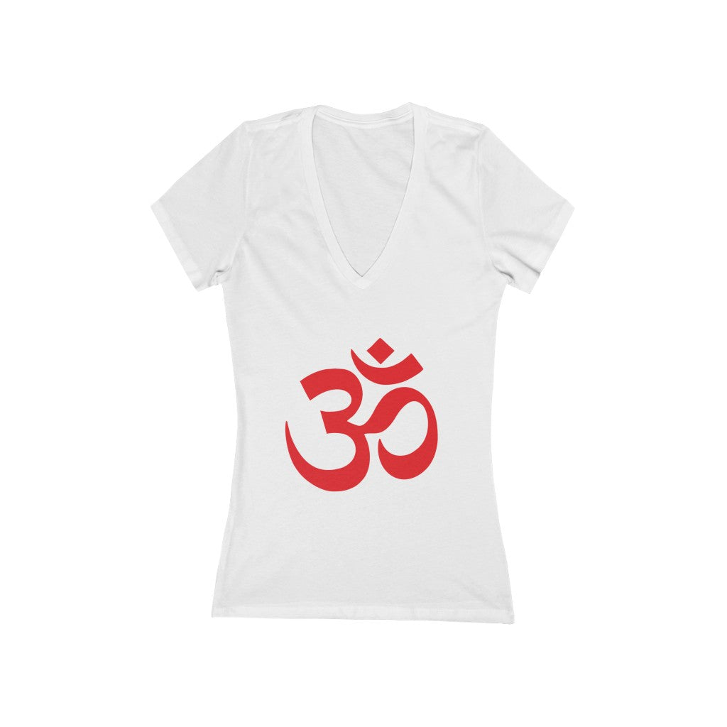 OM Women's Short Sleeve V-Neck T-Shirt