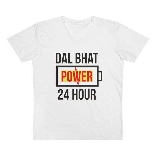 Men's Presenter V-neck Dal Bhat Power T-shirt