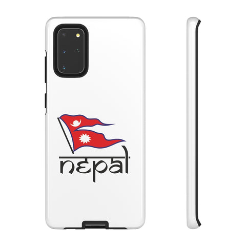 Nepali Flag printed Tough Premium Phone Case