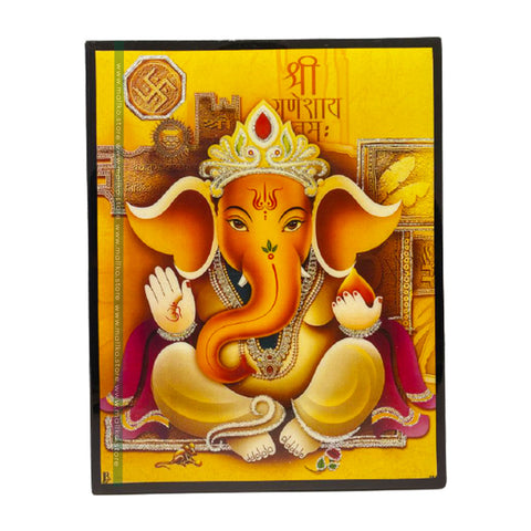 Ganesh Ji laminated photo frame