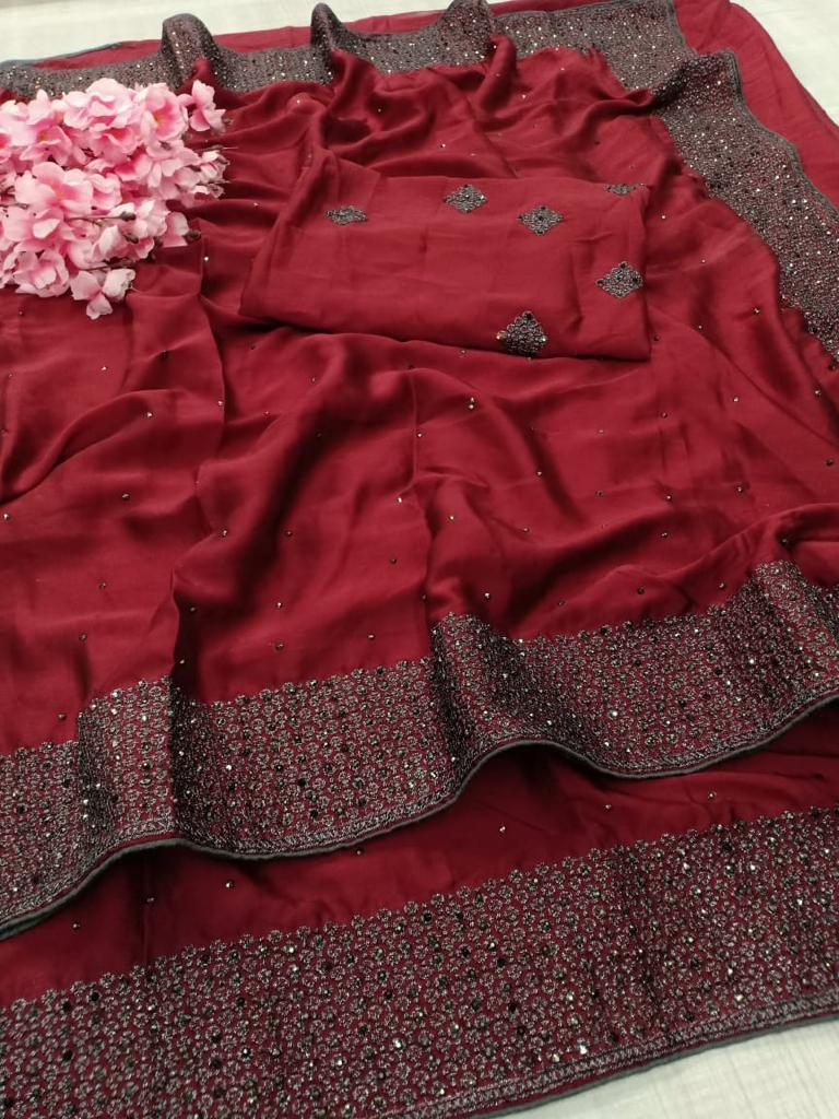 Rangoli Fancy Saree with Blouse