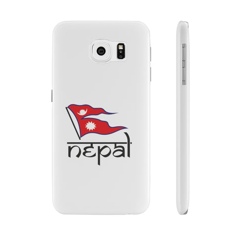 Flag of Nepal printed Super Slim Phone Case