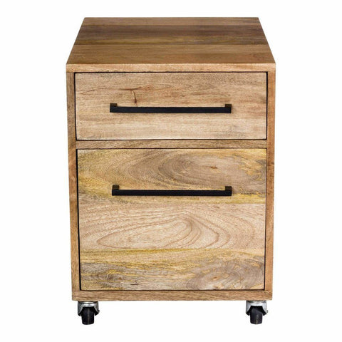 Moe's Colvin Mobile Pedestal Filing Cabinet for a Home Office