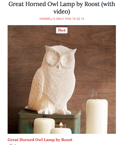 Roost Great Horned Owl Lamp | Heaven's Gate Home and Garden