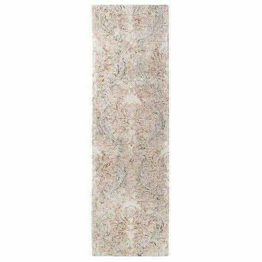 Company C Carrera Handspun, Tie-Dyed Time Softened Damask Rug-Rugs-Company C-3' x 8' Runner-Heaven's Gate Home