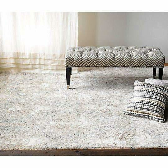 Company C Carrera Handspun, Tie-Dyed Time Softened Damask Rug-Rugs-Company C-Heaven's Gate Home