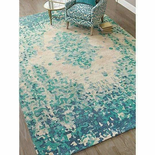 Company C Looking Glass Textural 100% Hand-Spun Bamboo Viscose Rug, Lake-Rugs-Company C-Heaven's Gate Home