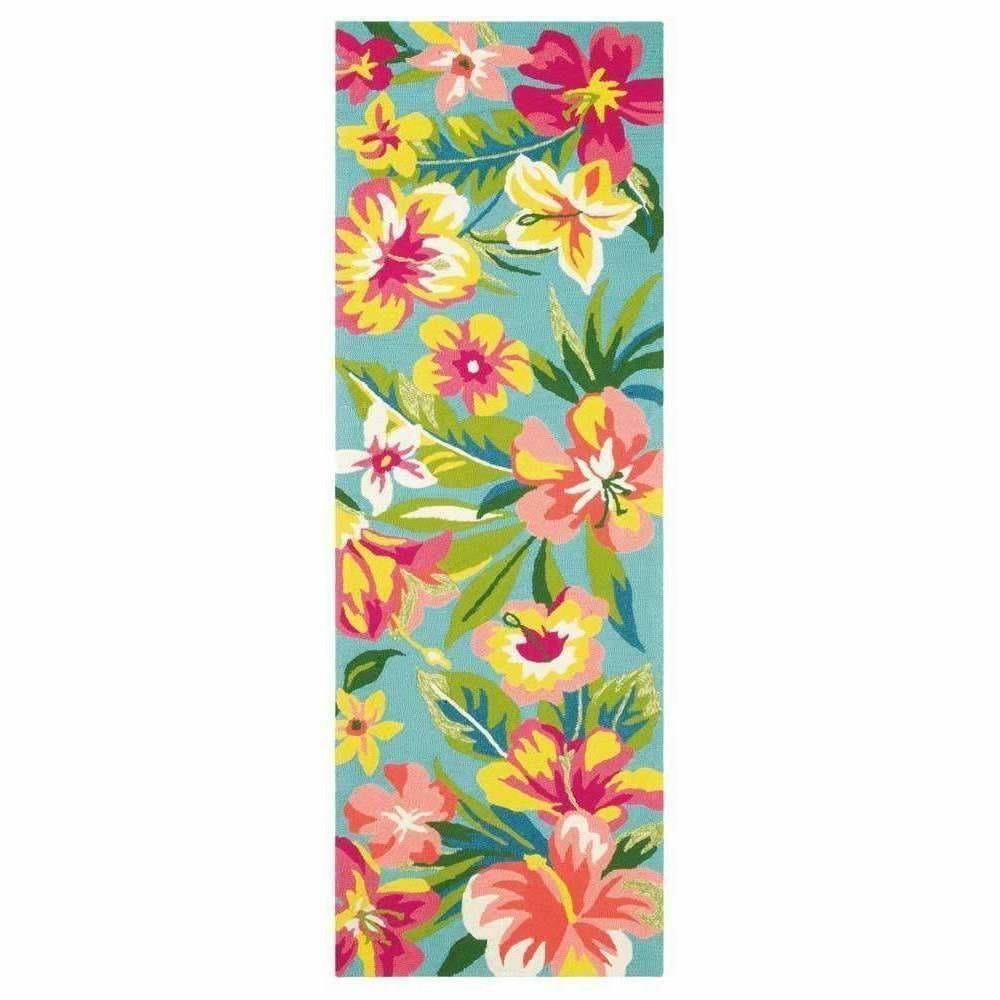 Company C Mai Tai Whimsical Hand-Hooked Polypropylene Rug, Indoor/Outdoor-Rugs-Company C-3' x 8' Runner-Heaven's Gate Home