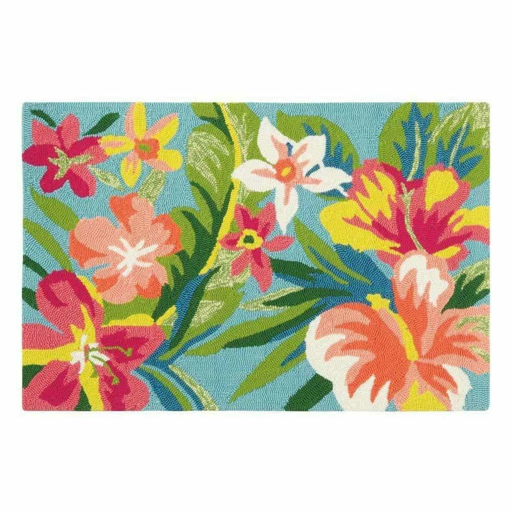 Company C Mai Tai Whimsical Hand-Hooked Polypropylene Rug, Indoor/Outdoor-Rugs-Company C-2' x 3'-Heaven's Gate Home