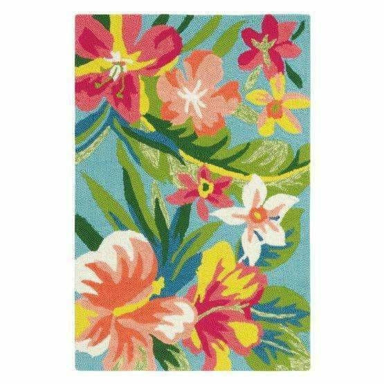 Company C Mai Tai Whimsical Hand-Hooked Polypropylene Rug, Indoor/Outdoor-Rugs-Company C-Heaven's Gate Home