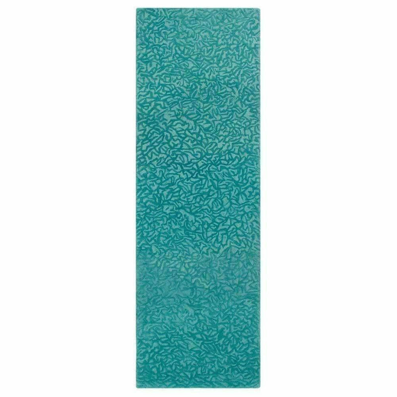 Company C Crackle Hand-Tufted 100% Pure Wool, 2-Tone Rug-Rugs-Company C-Teal-3' x 8' Runner-Heaven's Gate Home