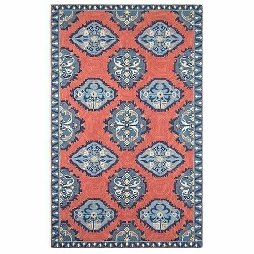 Company C Old Glory 100% Wool Hand-Hooked Tie-Dyed Rug, Red-Rugs-Company C-3' x 5'-Heaven's Gate Home