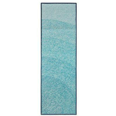 Company C Abstract 100% polypropylene Hand Hooked Infinity Rug, Blue, Indoor/Outdoor-Rugs-Company C-3' x 8' Runner-Heaven's Gate Home