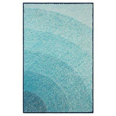 Company C Abstract 100% polypropylene Hand Hooked Infinity Rug, Blue, Indoor/Outdoor-Rugs-Company C-2' x 3'-Heaven's Gate Home, LLC