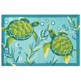 Company C Turtle Bay 100% Polypropylene Whimsical Accent Rug, Indoor/Outdoor-Rugs-Company C-Heaven's Gate Home