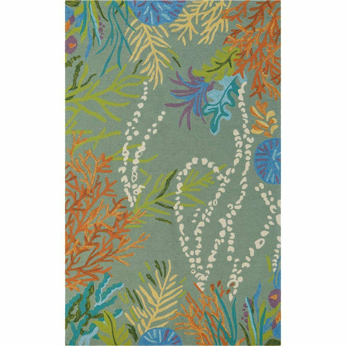 Company C Under The Sea 100% Polypropylene Colorful Rug, Lake-Rugs-Company C-2' x 3'-Heaven's Gate Home, LLC