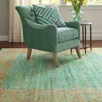 Company C Florence Hand Knotted, 100% Wool Rug, Jade-Rugs-Company C-Heaven's Gate Home