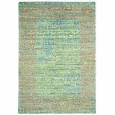 Company C Florence Hand Knotted, 100% Wool Rug, Jade-Rugs-Company C-3' x 5'-Heaven's Gate Home