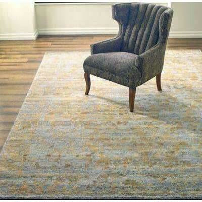 Company C Jasper Modern Abstract Hand Knotted Rug, Gold-Rugs-Company C-Heaven's Gate Home