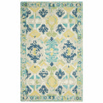 Company C Positano 100% Wool Hand Tufted Rug, Blue-Rugs-Company C-3' x 5'-Heaven's Gate Home