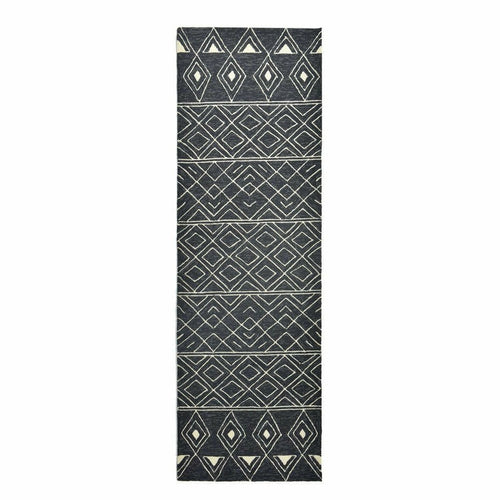 Company C Nomad 100% Polypropylene Hand Hooked Rug, Charcoal-Rugs-Company C-3' x 8' Runner-Heaven's Gate Home