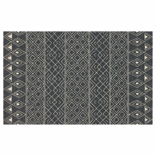 Company C Nomad 100% Polypropylene Hand Hooked Rug, Charcoal-Rugs-Company C-2' x 3'-Heaven's Gate Home