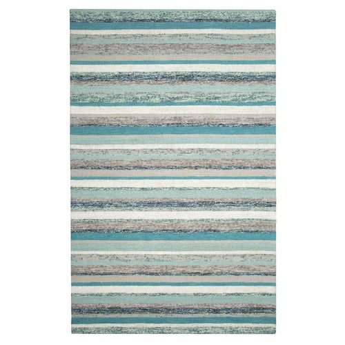 Company C Fairfield Wool Hand Tufted Rug, Blue-Rugs-Company C-3' x 5'-Heaven's Gate Home