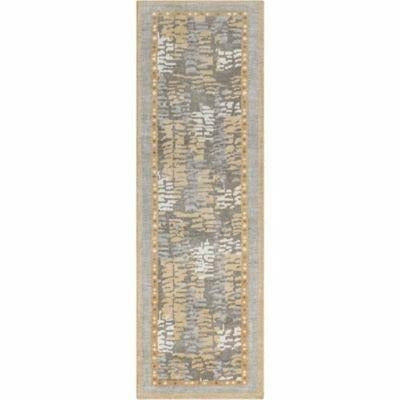 Company C Bracken 100% Wool Hand Knotted Area Rug, Camel-Rugs-Company C-3' x 8' Runner-Heaven's Gate Home