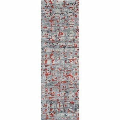 Company C Cityscape 100% Wool Hand Knotted Area Rug, Gray-Rugs-Company C-3' x 8' Runner-Heaven's Gate Home